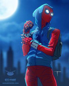 Spiderman artwork at the night Marvel Comics, Heros Comics, Marvel Heroes, Marvel Avengers, Captain Marvel, Deadpool Comics, Deadpool Quotes, Deadpool Funny, Deadpool Movie