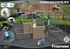 Great compact parkour park design by Freemove. www.freemove.co.uk