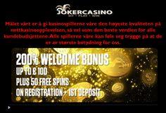 Thumbnail for casinospill, mobilkasino, casino bonus Casino Bonus, Joker, Social Media, Ads, Wordpress, Movie Posters, Create, Image, Film Poster