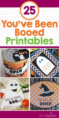 """Here's the best compilation of """"You've Been Booed"""" printables. Pick your favorite and let the Halloween festivities begin! Halloween Office, Halloween Boo, Halloween Season, Holidays Halloween, Halloween Crafts, Happy Halloween, Halloween Buckets, School Holidays, Holiday Crafts"""