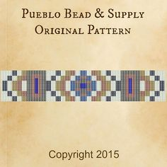 Tijeras Seed Bead Pattern Loom Cuff Bracelet PDF File Beaded Beadweaving Weaving Native American Tribal Immediate Download