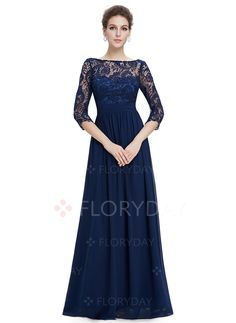 4d88accf86ea Angel Formal Dresses Women s Lace and Chiffon Formal Evening Dresses with  Sleeves -- Be sure to check out this awesome product. (This is an affiliate  link)