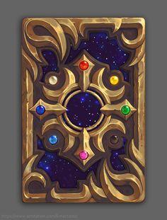 ArtStation - Triple Triad Card Back, Karen McCarthy🌈 Anime Weapons, Fantasy Weapons, Fantasy Rpg, Magic Book, Magic Art, Game Art, Game Card Design, Fun Card Games, Magic Symbols