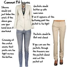 There are lots of problems with the fit of commercially made garments, these are things that if you're making the garment you can alter out of the pattern. But before you buy, make sure these are not problems built into the garment for you. There are some common issues with fit that are reasonably easy...