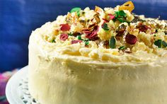 Golden Cloud Coconut Burfee Cake