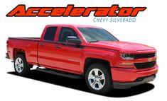 Chevy Silverado SHADOW Truck M Vinyl Graphics Stripes - Chevy decals for trucksmore decalchevrolet silverado rally edition unveiled