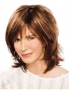 Hair Beauty - -Sexy Edgy Modern Shag Wig With Piecey Razor-Cut Layers shorthairedgy Haircuts For Medium Hair, Medium Hair Cuts, Hairstyles With Bangs, Short Hair Cuts, Medium Hair Styles, Hairstyles For Round Faces, Razor Cut Hairstyles, Short Thin Hairstyles, Stylish Hairstyles