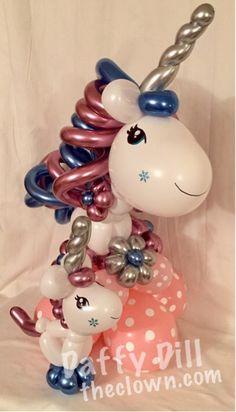 BABY SHOWER~Mother & Baby Balloon Unicorn