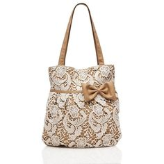 Lace Bow Tote - Forever New- to do. Tote Purse, Clutch Wallet, Tote Handbags, Burlap Bags, Jute Bags, Diy Sac, Lace Bag, Latest Bags, Forever New