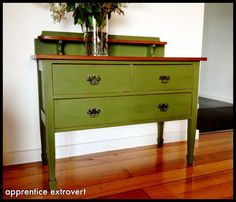 apprentice extrovert: Before And After: Another DIY Chalk Paint Dresser