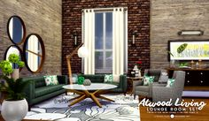 Atwood Living Lounge Set by peacemaker ic via tumblr I + toddler patch I Sims 4 I TS4 I Maxis Match I MM I CC