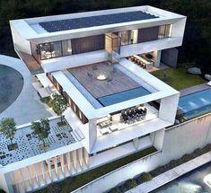 Modern Architecture House, Residential Architecture, Interior Architecture, Interior Design, Room Interior, Modern Villa Design, Luxury Homes Dream Houses, Dream House Exterior, Modern House Plans