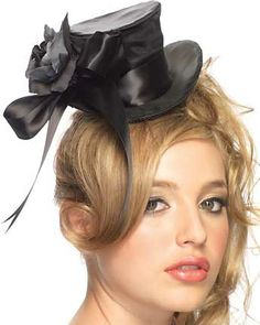 Top Hat for Women using silky black ribbons. Love it!