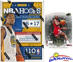 2016/2017 Panini Hoops NBA Basketball HUGE Factory Sealed Blaster Box with 110 Cards