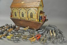 An antique Noah's Ark from the Erzgebirge.  Christian Werner folk artist from the Erzgebirge creates a wonderful version to this day.  FIND at www.mygrowingtraditions.com