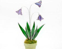Macchia di vetro Sun Catcher 3d Blu Iris decorazione di