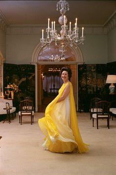 Lady Bird Johnson, wife of President Lyndon B. Johnson