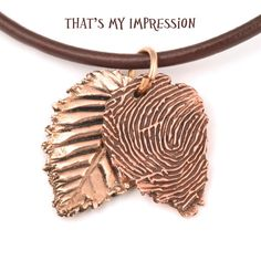 592bb045f Autumn Leaves, Personalized Copper Fingerprint Jewelry, Fall Wedding Finger  Print Leafs by ThatsMyImpression on Etsy