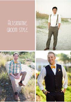 ALTERNATIVE GROOM STYLE, bow tie or regular tie