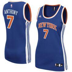 Carmelo Anthony New York Knicks adidas Women's Road Replica Jersey - Royal