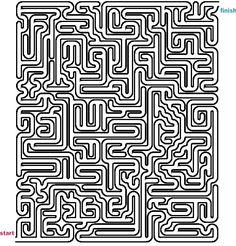 Hard Maze Games to Print | Mazes to Print - Hard Tubular Mazes