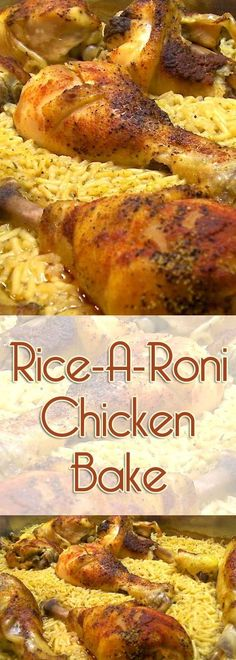 This Rice-A-Roni Chicken bake basically cooks itself. Start the dish before you … This Rice-A-Roni Chicken bake basically cooks itself. Start the dish before you leave, and by the time you get home, it's done, and ready to serve! Chicken And Rice A Roni Recipe, Chicken Leg Recipes, Chicken Meals, Chicken Rice, Ricearoni Recipes, Cooking Recipes, Recipies, Turkey Recipes, Healthy Cooking