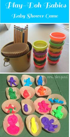 Play Doh Babies Baby Shower Game. I did 3 prizes: most creative, ugliest and best overall. #babyshower #games #playdoh