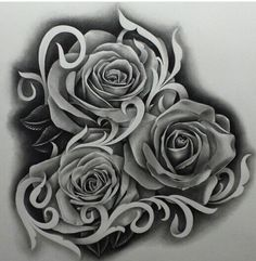 Chicano Arte Rose Drawing Tattoo, Tattoo Sketches, Tattoo Drawings, Tattoo Studio, Tattoo Blog, Rose Tattoos, Flower Tattoos, New Tattoos, Graffiti Tattoo