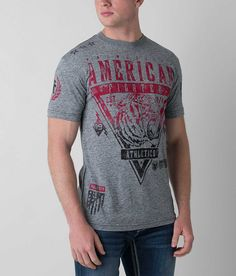 American Fighter Wisconsin T-Shirt - Men's T-Shirts in Heather Grey American Fighter, 2016 Trends, Ao Dai, Humor, Heather Grey, Celebrity Style, Fashion Tips, Fashion Trends, My Style