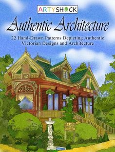 Authentic Architecture: Hand-Drawn Patterns Depicting Authentic Victorian Designs and Architecture