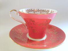 Orange Aynsley Tea Cup and Saucer Aynsley Corset by AprilsLuxuries