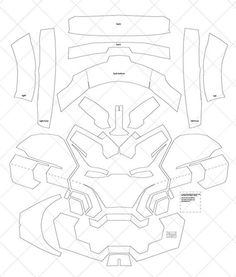 This Iron Man Mark 42 - & Letter Size PDF Template (Ready to Print) is just one of the custom, handmade pieces you'll find in our patterns & blueprints shops. Cardboard Costume, Cardboard Mask, Diy Cardboard, Iron Man Helmet, Iron Man Suit, Iron Man Armor, Iron Man Cosplay, Cosplay Armor, Cosplay Diy