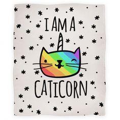 I Am A Caticorn Blanket | HUMAN - $33.75