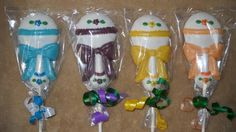 Chocolate LARGE Baby Shower Rattle chocolate lollipops. castlerockchocolates at yahoo.com 307/899-7100 text any hour www.sapphirechocolates.artfire.com and stores.ebay.com/Castle-Rock-Chocolatier. usually made to ship 3 weeks after payment therefore please provide the following for a price quote w/ shipping info especially if your event falls under the 3 week estimated arrival dates * event date * character * quantity * state * zip code * email address.