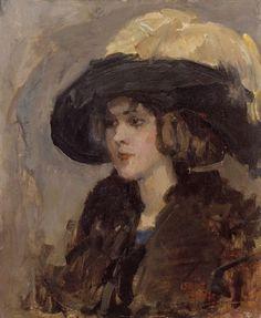 """Isaac Israels 1865-1934 """"Vrouw met hoed"""" ~ Welkom bij Van Voorst van Beest Gallery ~"""