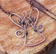 Guardian Angel Necklace Pendant Oxidized by Karismabykarajewelry, $35.00