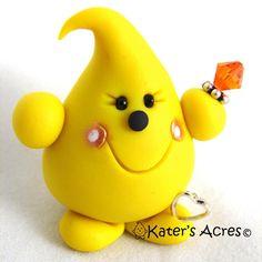 November Birthstone | NOVEMBER Birthstone TOPAZ PARKER Polymer Clay by KatersAcres, $20.00