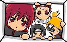 Sasori, Itachi, Hidan, Deidara