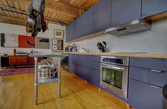 Noble Court Lofts - Unit #413   Toronto LOFTS Toronto Lofts, Hardwood Floors, Flooring, Exposed Brick Walls, Open Concept Kitchen, Wood Ceilings, Modern Design, Kitchen Cabinets, The Unit