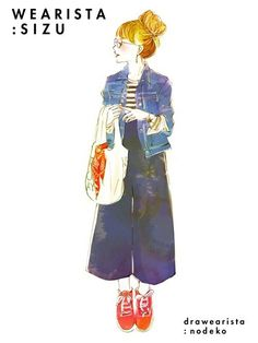 Fashion Poses, Fashion Art, Fashion Design, Character Drawing, Character Design, Girl Sketch, Illustration Girl, Kawaii Girl, Japan Fashion