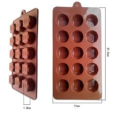 Jelly Silicone Cake Mold Shape 15-Hole Tent-Shaped Silicone Mold Fondant Cake Decorating Tools -- Find out more details by clicking the image : Small Pastry Molds