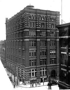 Ogilvie Building at the southeast corner of Bay and Wellington streets Toronto, Multi Story Building, Corner, Architecture, Street, Vintage, Roads, Architecture Illustrations, Primitive