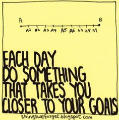 Little steps that take you closer to your goals
