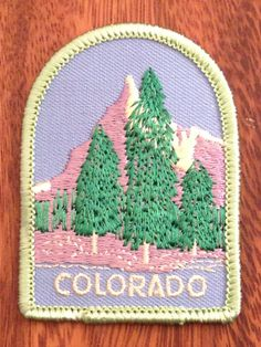 Colorado Vintage Travel Patch by Lion by HeydayRetroMart on Etsy, $8.00
