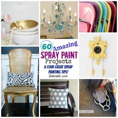 A collection of amazing and ingenious projects, each using spray paint! Get inspired with this group of 60 fantastic tutorials!