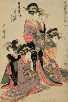 (Japan) by Kitagawa Utamaro (1753- 1806). woodblock print.