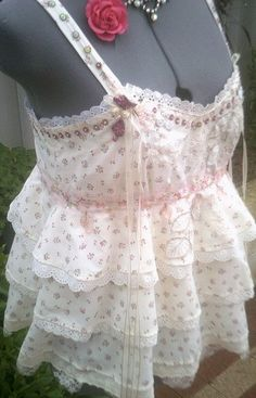 bohemian clothing spring top upcycled top by Fashionwithness, $120.00