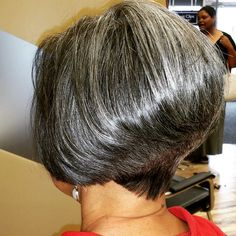 Stackbob#shorthairstyle#greatclips#cutehairstyle#greyhair#invertedbob#shortbob#shorthaircut#haircut