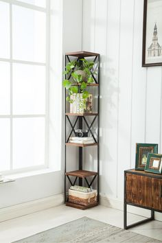 Best Farmhouse Corner Shelves for your Country Home! It can be difficult to find country corner shelves and rustic themed corner shelves so we put together a list of the best possible farm home corner shelves you can find. Corner Shelves Living Room, Rustic Corner Shelf, Diy Corner Shelf, Wall Mounted Corner Shelves, Wall Shelf Unit, Corner Bookshelves, Floating Corner Shelves, Corner Storage, Rustic Shelves