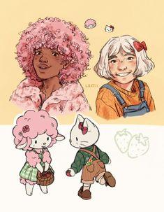 Cute Art Styles, Cartoon Art Styles, Character Inspiration, Character Art, Character Design, Arte Sketchbook, Cute Characters, Pretty Art, Aesthetic Art